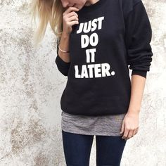 Current mood. #NastyGalsDoItBetter || Shop the look: http://www.nastygal.com/product/petals-and-peacocks-later-sweatshirt?utm_source=pinterest&utm_medium=smm&utm_term=nastygals_do_it_better&utm_campaign=ngdib