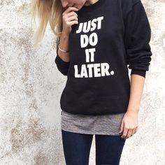 Current mood. #NastyGalsDoItBetter || Shop the look: http://www.nastygal.com/product/petals-and-peacocks-later-sweatshirt?utm_source=pinterest&utm_medium=smm&utm_term=nastygals_do_it_better&utm_campaign=ngdib