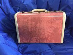 Vintage RARE SAMSONITE Mid-Century PINK MARBLE Train Case, Luggage, Hard Shell #SamsoniteShwayderBros