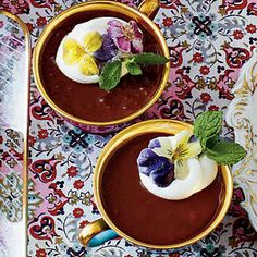Chocolate-Espresso Pots de Crème-Southern Living Magazine