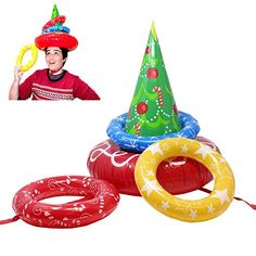 9c9bae44f20b1 JOYIN Inflatable Christmas Tree Toss Game for Christmas Parties Games  Christmas Games For Family