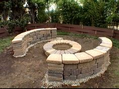 How To Build a Bench Around a Firepit