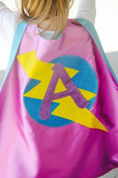 FAST SHIP GIRLS Personalized Sparkle Superhero Cape with custom initial - High quality sparkle design - girl birthday gift - Usa Hijab Girl Best Share Birthday Gifts For Kids, Girl Birthday, Superhero Capes, Girl Superhero Costumes, Superhero Fancy Dress, Super Hero Capes For Kids, Cape Designs, Design Girl, Super Hero Costumes
