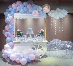 Pink and Blue and Baseballs Gender Reveal Party Ideas Balloon Garland, Balloon Decorations, Birthday Decorations, Baby Shower Parties, Baby Shower Themes, Party Kulissen, Deco Ballon, Sequin Backdrop, Baby Gender Reveal Party