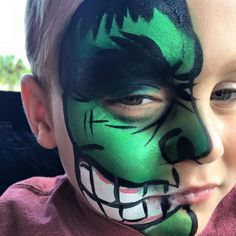 Face Paint   Orlando Face Painters   Colorful Day Events - The Hulk Super Hero Face Painting