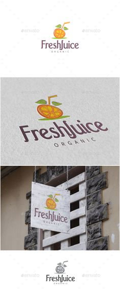 Buy Fresh Juice Logo by MS_designer on GraphicRiver. Fresh Juice Logo -AI and EPS file -CMYK mode vector and resizable -Easy to edit color and text -Fresh Juice Log. Food Logo Design, Best Logo Design, Logo Food, Logo Design Template, Logo Templates, Branding Design, Resturant Logo, Logo Restaurant, Juice Cafe