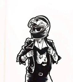 29 Ideas For Motorcycle Girl Illustration Biker Chick girl
