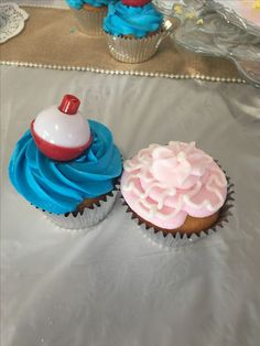 """""""Lures or Lace"""" Cupcakes - Gender Reveal"""