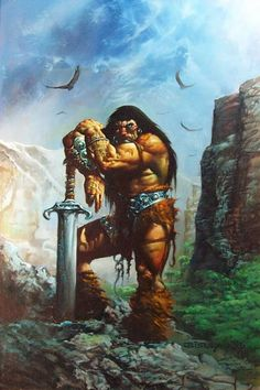 Conan the Barbarian painted by Simon Bisley (1995)