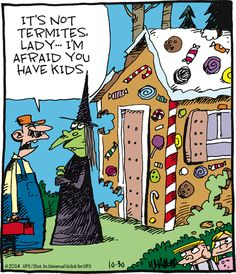 I'm Afraid You Have Kids witch halloween halloween quotes halloween humor halloween jokes funny halloween images halloween comics
