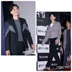 """南佶出席《殺人者記憶法》記者發表會的穿搭造型可以說是""""米蘭時裝秀""""。"""