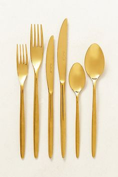 doma flatware #golddecor #anthrofave