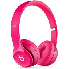 Beats by Dr. Dre Solo 2.0 Headphones found on Polyvore featuring pink and beats by dr. dre