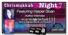 Harper Sloan is giving away 2 $50 Gift cards and a signed book with her exclusive interview at Ana's Attic. http://anasattic.com/chrismukkah-2015-night-7-harper-sloan/#comment-188440