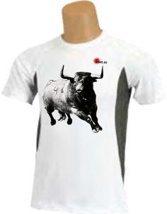 Camiseta - Dibujo de toro tomando curva