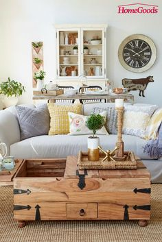 Create an open concept modern farmhouse stye with distressed woods, creamy whites and layers of textures. Cozy, inviting and reminiscent of a simpler time.
