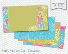 Business Card Template - Teacher, Nurse, Daycare, Childbirth Educator, Midwife, Babysitter, $18.00