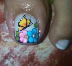 Toenail Art Designs, Pedicure Designs, Toe Nail Designs, Summer Toe Nails, Spring Nails, Fun Nails, New Nail Art Design, Cute Pedicures, Nail Effects