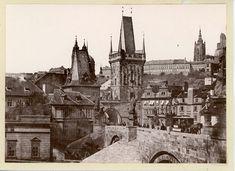 Prague Charles Bridge, Pont Charles, Circa, Vintage Prints, Barcelona Cathedral, Building, Travel, Stone, Viajes