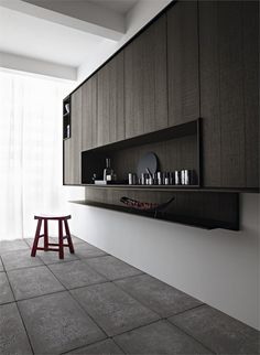 kitchen with island KALEA by CESAR ARREDAMENTI | design Gian Vittorio Plazzogna