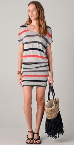 Brixton Dress / Soft Joie #dress #stripes {i have a lot of stripes in my closet....}