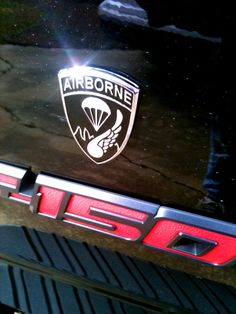 187th Airborne Emblems. Get rid of those old faded decals and slap some nice chrome on your vehicle. Ride with Pride!