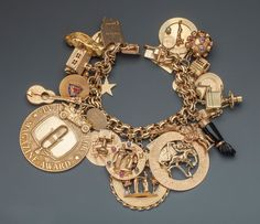 This Is Your Life charm bracelet presented to Dale Evans during the episode that aired January 14, 1953. Sold in July 2010 for $20,000: http://www.christies.com/lotfinder/memorabilia/a-charm-bracelet-this-is-your-life-5337999-details.aspx. Sold on January 24, 2015 for $6,000: http://www.icollector.com/Dale-Evans-Charm-Bracelet-This-is-Your-Life_i21367932