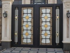 Wrought Iron, Stairs, Curtains, Doors, Gallery, Decorative Metal, House, Gates, Furniture Ideas