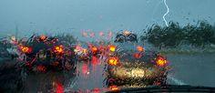 Conducir bajo una tormenta