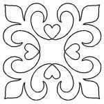 Quilt Stencil Elegance By Walner, Hari - Elegance Block continuous line stencil. Stencil is made of Mylar plastic with the displayed design cut into it. New size of stencils & Quilting Stencils, Quilting Templates, Stencil Patterns, Stencil Designs, Quilting Projects, Quilt Patterns, Quilting Ideas, Art Quilting, Block Patterns