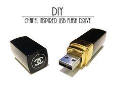 chanel lipstick inspired usb flash drive, chanel lipstick usb flash drive, chanel lipstick usb, chanel lipstick usb diy tutorial, usb diy tu...