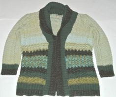 BKE The Buckle Sweater Cardigan Open Front Coat Sparkly Size M Ladies Womens