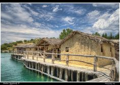 Museum on Water archaeological complex, Bay of Bones, Ohrid, Macedonia. Authentic reconstruction of the pile-dwelling settlement dating back 1200 BC ✯ ωнιмѕу ѕαη∂у