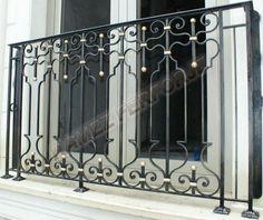 Ferforje Balkon korkuluğu  Modeli  El işçiliği  Fransız Balkon  French  balcony  wrought iron balcony www.ramezferforje.com.tr