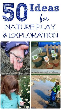 50 fun nature activities that inspire kids to get out and explore this Spring & Summer! Outdoor activities for kids