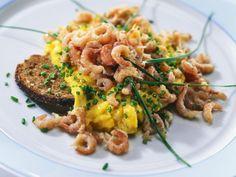 Krabbenrührei Rezept   EAT SMARTER Brunch, Eat Smarter, Risotto, Dinner, Ethnic Recipes, Food, Spring, Crabs, Dinner Ideas
