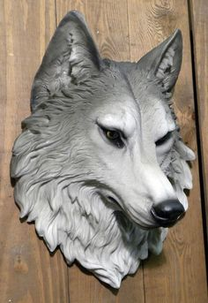 wolf sculpted head - Google Search