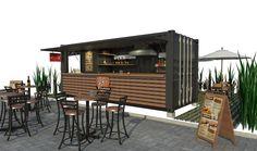 Kiosk Design, Cafe Design, Booth Design, House Design, Container Home Designs, Container Restaurant, Container Shop, Coffee Shop Design, Coffee Signs