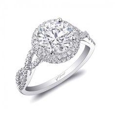 Round diamond engagement ring by Coast Diamond.