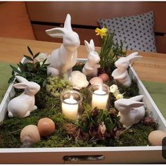 deko frühling – Famous Last Words Happy Easter, Easter Bunny, Easter Eggs, Holiday Parties, Holiday Decor, Deco Nature, Deco Floral, Diy Candles, Easter Crafts