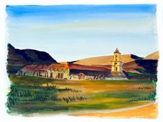 I found this old image of the Pala Mission in Northern San Diego county. I wondered what it would look like in color. Not long after this, I was in the area and went to find the mission. It is surrounded by homes and there is now a huge Indian casino nearby. Totally different. California Missions, Old Images, San Diego, Watercolor Paintings, Homes, Indian, Houses, Water Colors, Home