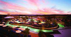 Twilight at the pool - JW Marriott San Antonio #jwsanantonio #twilight #sunset #lazyriver