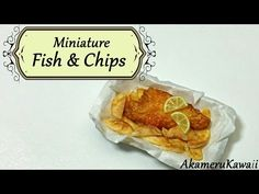 Miniature Fish and Chips - Polymer Clay Tutorial - YouTube