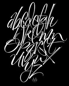 by Alan Ariail - practice piece Graffiti Lettering Alphabet, Graffiti Names, Chicano Lettering, Graffiti Font, Graffiti Drawing, Graffiti Styles, Font Alphabet, Tattoo Lettering Styles, Hand Lettering Fonts