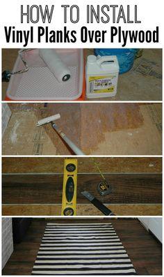 For Finishing Off Vinyl Plank Flooring Especially Against A Tub - Install vinyl flooring over plywood subfloor