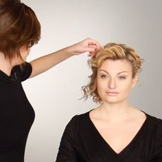 Wedding Hairstyles for Short, Curly Hair