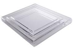 AVF Soiree Tray (Large) - Clear - Dering Hal 21x18x2 $325