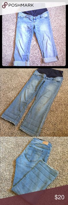 Maternity jeans 👖 capris Like new condition H&M Jeans Straight Leg