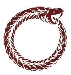 Uróboros. La serpiente que muerde su propia cola. Símbolo de esfuerzo eterno, ya que pocas cosas terminan donde uno cree.