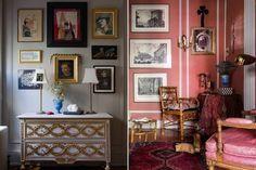 New York City home of furniture, textile, and interior designer Adam Charlap Hyman via Lonny
